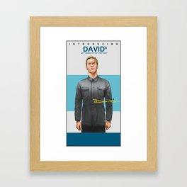Michael Fassbender as David 8 Framed Art Print