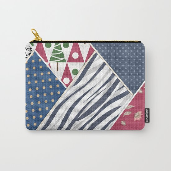 Abstract pattern .Textile patchwork patchwork . Carry-All Pouch