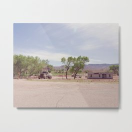 Truck and Helicopters Metal Print