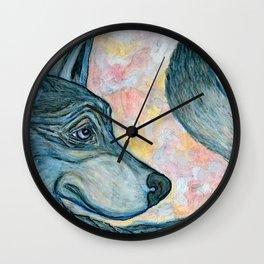 Moving Forward, Looking Back Wall Clock