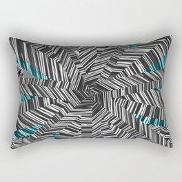 Crazy Blue Zebra Rectangular Pillow