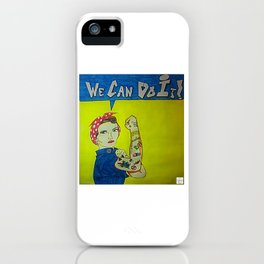 Modern Rosie the Riveter iPhone Case