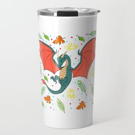 Unique And Cute Dragon Shirt For Anime Lovers With A Nice Illustration Of A Dragon T-shirt Design Travel Mug