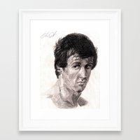 rocky Framed Art Prints featuring Rocky by Sketchy_Chris