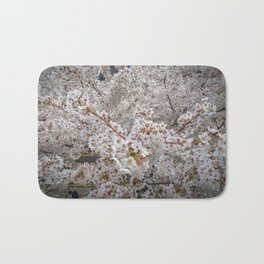 Cherry Blossoms from Above Bath Mat