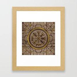 Vegvisir. The Magic Navigation Viking Compass Framed Art Print