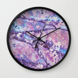 Violet and pink marble texture Wall Clock