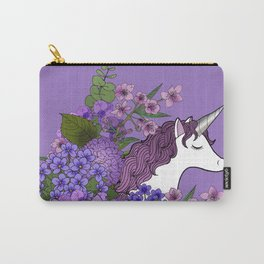 Unicorn in a Purple Garden Carry-All Pouch