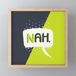 NAH. Green & Grey Framed Mini Art Print