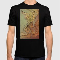 abstract floral composition 2 Black MEDIUM Mens Fitted Tee