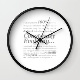 Constantly Evolving Wall Clock