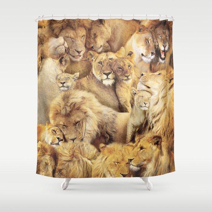 Lions Shower Curtain
