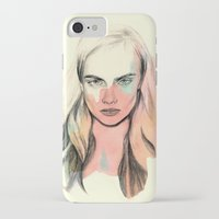 cara iPhone & iPod Cases featuring Cara by Beth Zimmerman Illustration