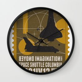 Beyond imagination: Space Shuttle postage stamp Wall Clock