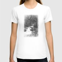 yosemite T-shirts featuring Whiteout Yosemite-2 by Deepti Munshaw
