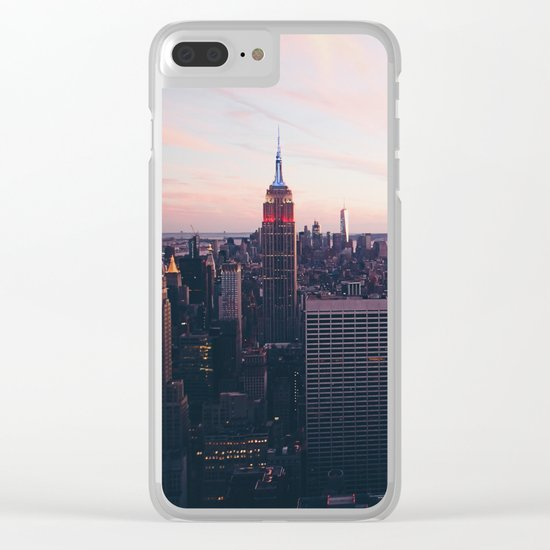 NYC Sky Clear iPhone Case