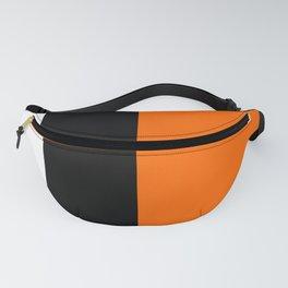 Modern White Black Orange Colorblock Fanny Pack