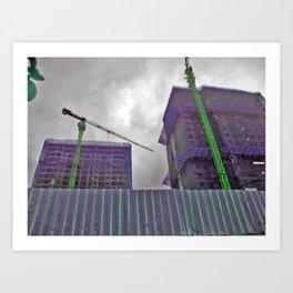 Construction Cocoons Art Print