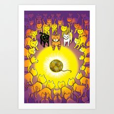 The Mystery of the Golden Yarn. Art Print