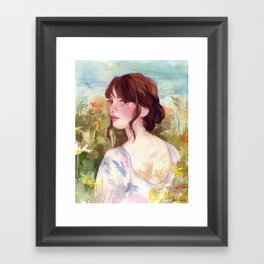 April Framed Art Print