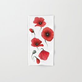 Poppies colored Hand & Bath Towel