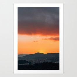 Barcelona Sunset 03 Art Print