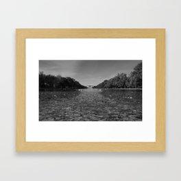 Lincoln B&W Framed Art Print