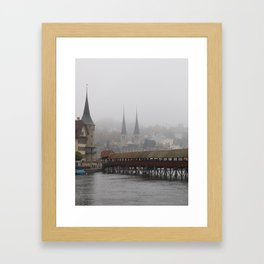 HAZY LUZERN Framed Art Print