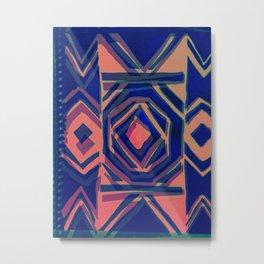 ndebele blue Metal Print