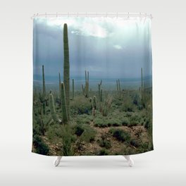 Arizona Desert and Cactuses Shower Curtain