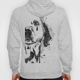 Black And White Half Faced Dalmatian Dog Hoody