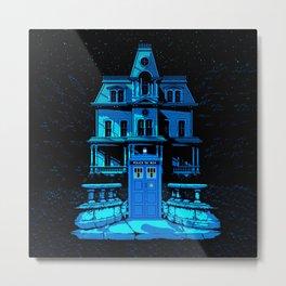 Tardis Horror Castle Metal Print