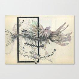 rose-Fish-bone dinosaur Canvas Print