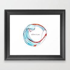 AbbraccioMi // Hugging Myself Framed Art Print