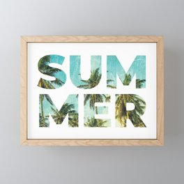 Awesome Summer Tropical Typography Framed Mini Art Print