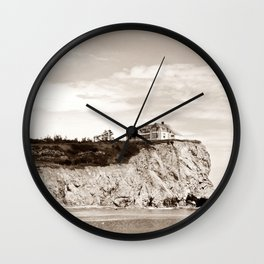 Big House on the Cliff Wall Clock