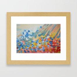 Pastel Pastel Abstract Oil Framed Art Print