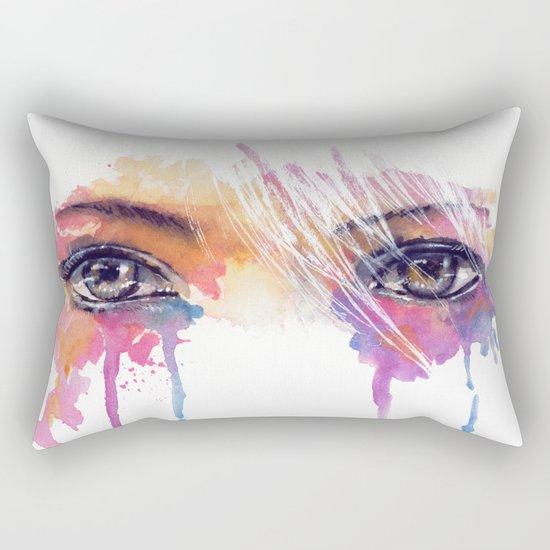 Rainbow Tears Rectangular Pillow