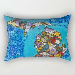 Michigan Floral Rectangular Pillow