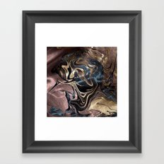 Deep Liquid Gold Framed Art Print