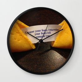 Fortune Cookie - Conquer your Fears Wall Clock