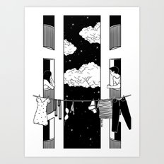 Thinking about you Art Print