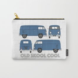 old skool cool – vintage commercial panel van in Dove Blue Carry-All Pouch