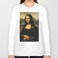 mona lisa Long Sleeve T-shirts featuring Mona Lisa by Bilal
