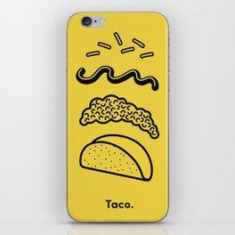 Taco Puzzle  iPhone Skin