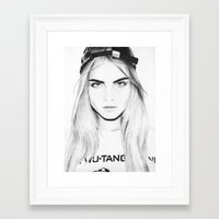 cara Framed Art Prints featuring Cara  by Chris Samba