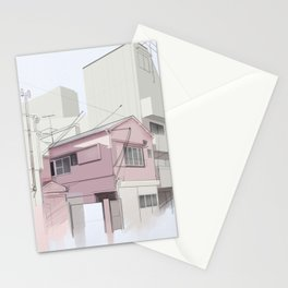 Japanese Cityscape in the Afternoon Stationery Cards