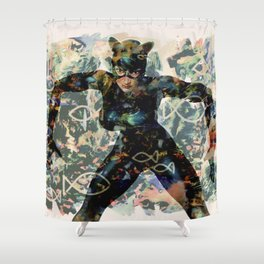 FISH AND KITTY Shower Curtain
