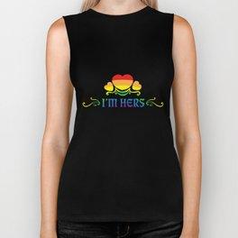 LGBT T-Shirt Funny I'm Here Lesbian Gay Pride Gift Biker Tank