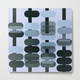 Mid-Century Pattern No. 157 Metal Print